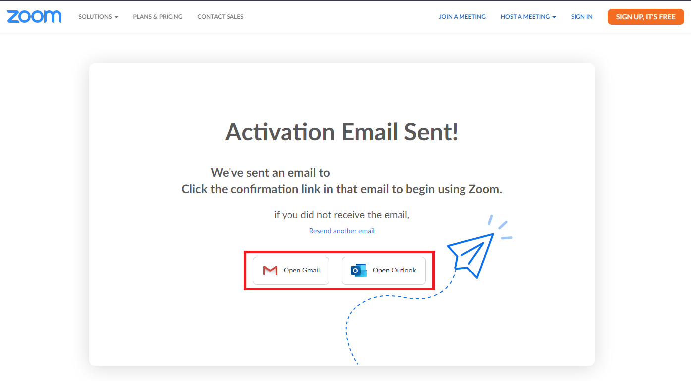 Fig. 4. Check your email address and don't forget to check SPAM.