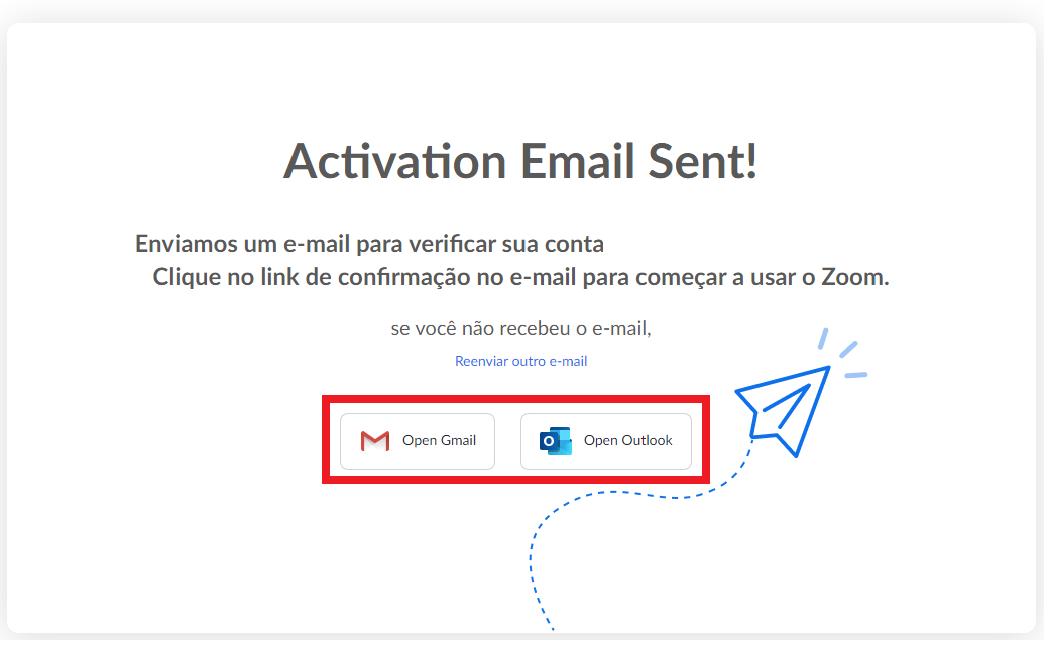Fig. 4. Verifique seu e-mail e não se esqueça de checar o spam