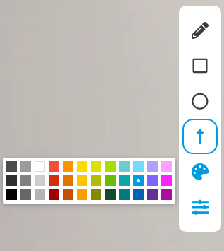 If you click the palette icon, you are given a number of colour choices. All icons will be updated to the colour you select