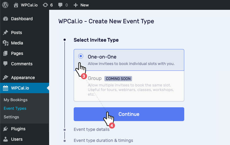 Select Invitee Type