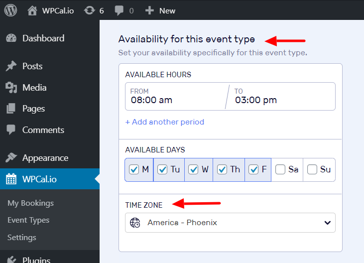 Locate Time Zone Option