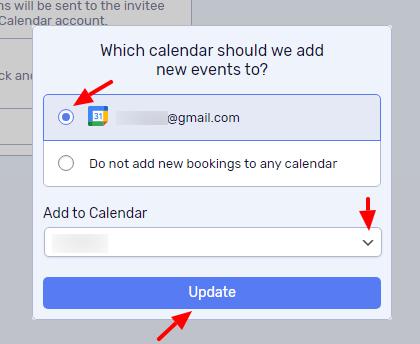 Choose calendar account and the calendar